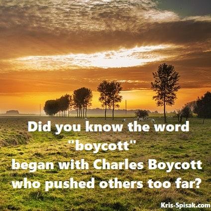 Origin of Boycott